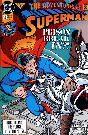Adventures of Superman (1987) 486-A by DC