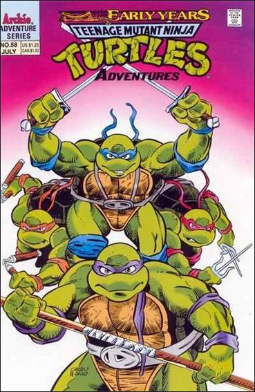 Teenage Mutant Ninja Turtles Adventures (1989) 58-A by Archie