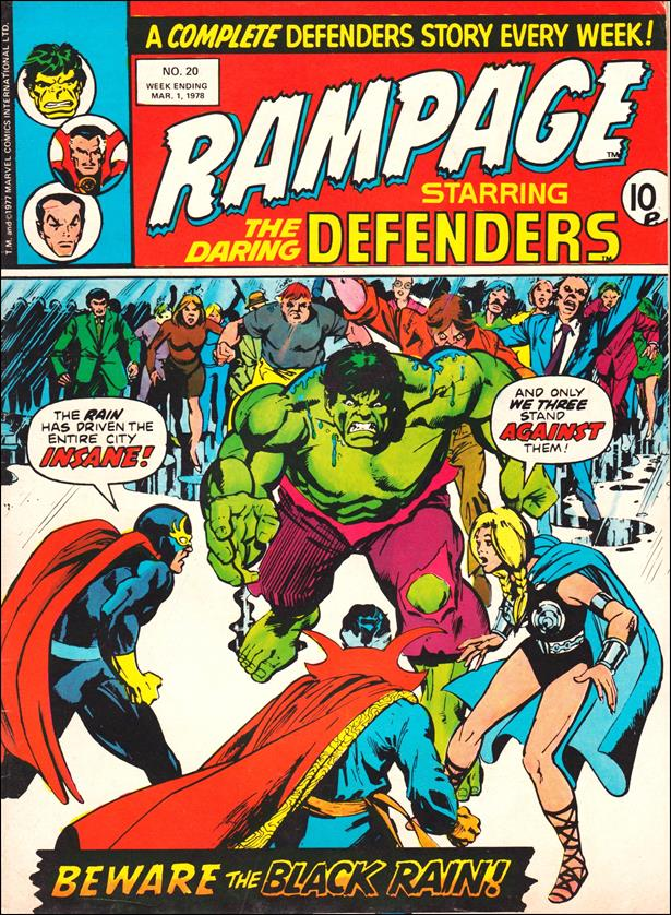 Rampage Weekly (UK) 20-A by Marvel UK