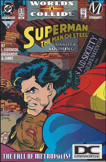 Superman: The Man of Steel 35-B by DC