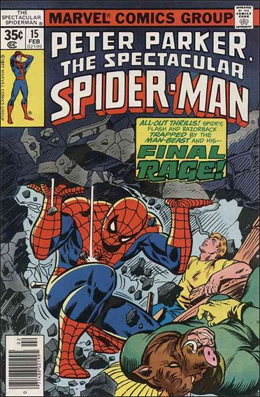 Spectacular Spider-Man (1976) 15-A by Marvel