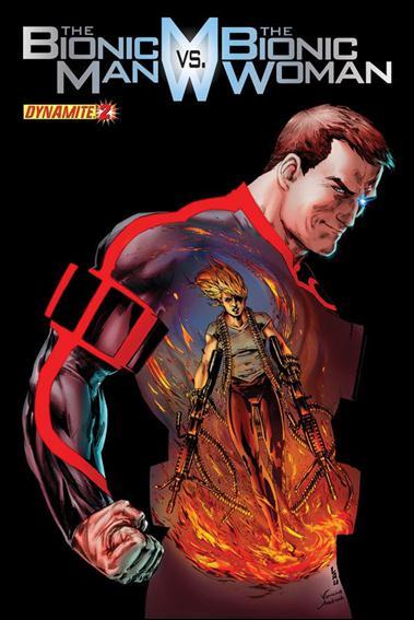 Bionic Man vs the Bionic Woman 2-B by Dynamite Entertainment