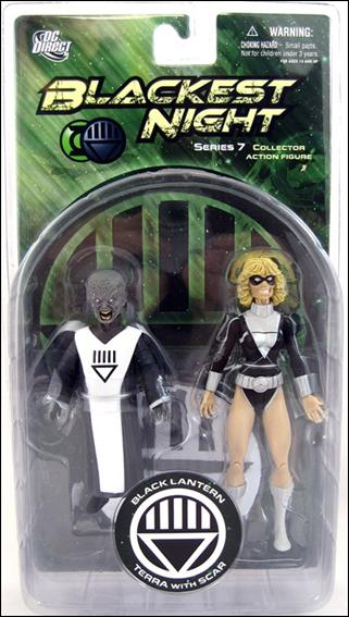 Blackest Night (Series 7) Black Lantern Terra and Scar by DC Direct