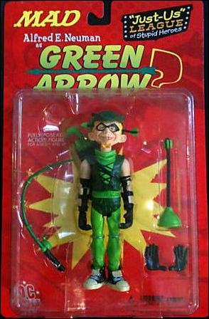 Just-Us League of Stupid Heroes Alfred E. Neuman as Green Arrow by DC Direct
