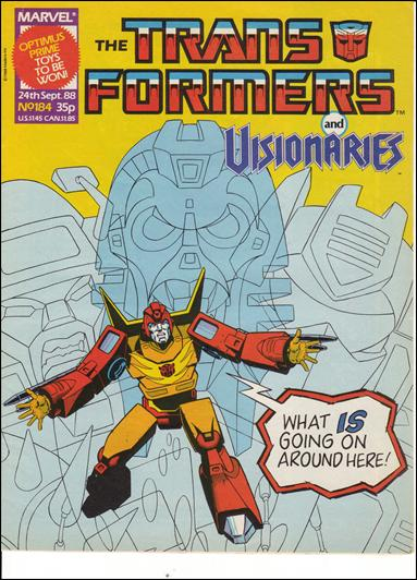 Transformers (UK) 184-A by Marvel UK