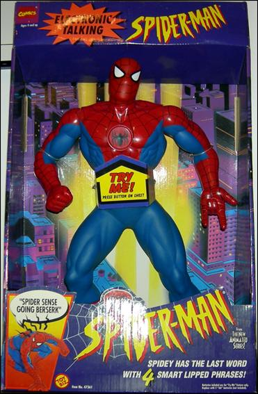 Smart Cover Reviews >> Spider-Man Electronic Talking Spider-Man, Jan 1994 Action Figure by Toy Biz