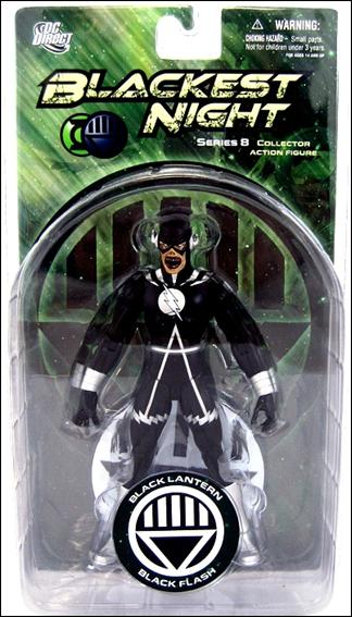 Blackest Night (Series 8) Black Lantern Black Flash by DC Direct