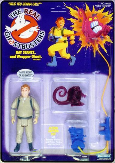 Real Ghostbusters Ray Stantz and Wrapper Ghost by Kenner