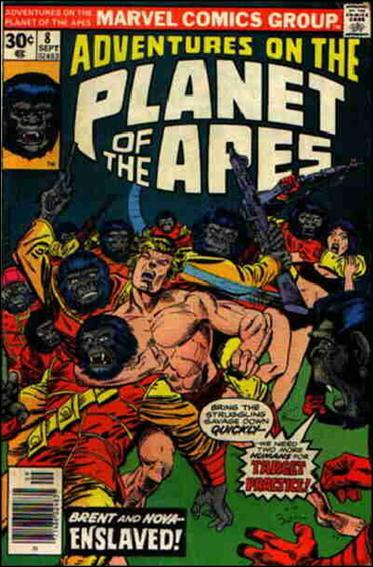 Adventures on the Planet of the Apes 8-A by Marvel