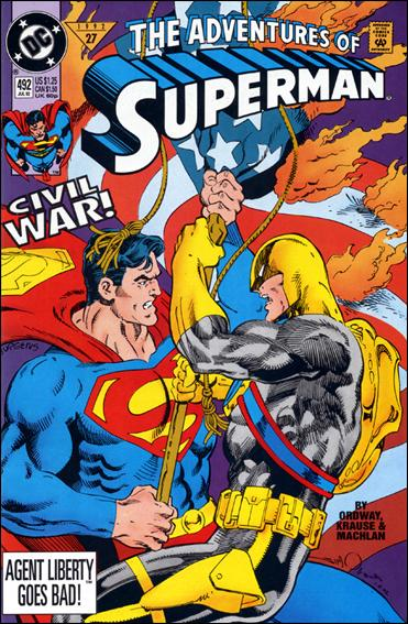Adventures of Superman (1987) 492-A by DC