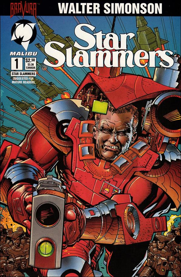Star Slammers 1-A by Malibu