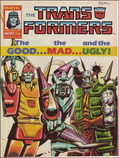 Transformers (UK) 117-A by Marvel UK