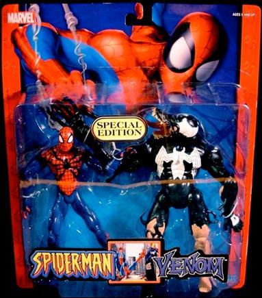 Spider Man Spider Man Vs Venom Jan 2005 Action Figure By Toy Biz