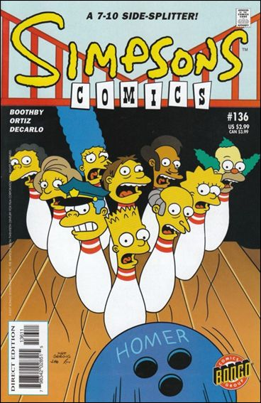 Simpsons Comics 136-A by Bongo
