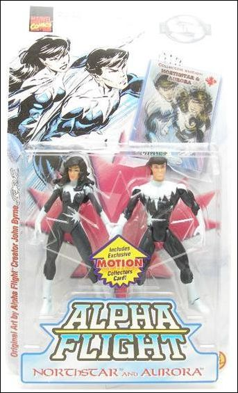 Alpha Flight 2-Packs Northstar and Aurora by Toy Biz