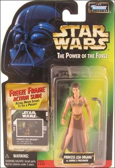 "Star Wars: The Power of the Force 2 3 3/4"" Basic Action Figures Leia (as Jabba's Prisoner) (Sealt-Marie) w/ FF by Kenner"