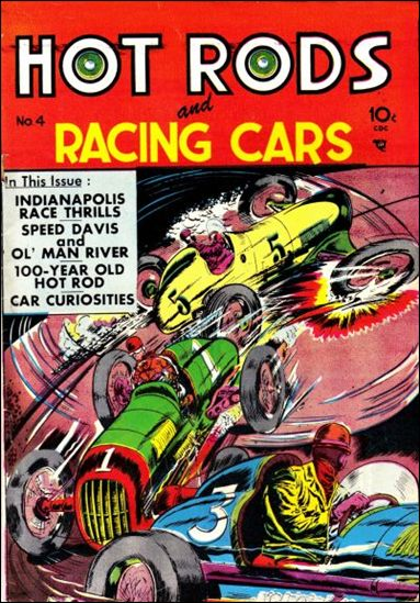Hot Rods and Racing Cars 4-A by Charlton