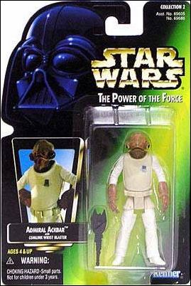 "Star Wars: The Power of the Force 2 3 3/4"" Basic Action Figures Admiral Ackbar by Kenner"