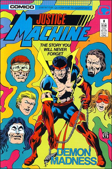 Justice Machine (1987) 8-A by Comico