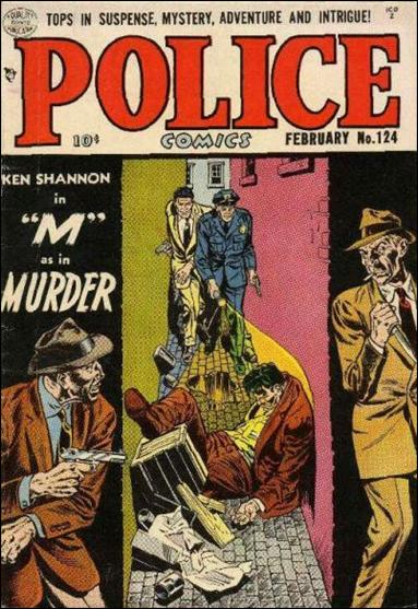 Police Comics 124-A by Comic Magazines