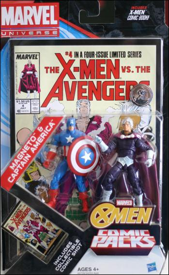 Marvel Universe: X-Men (Comic-Packs)  Magneto and Captain America by Hasbro