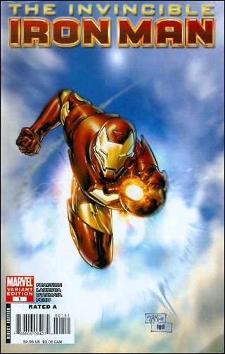 Invincible Iron Man (2008) 1-C by Marvel