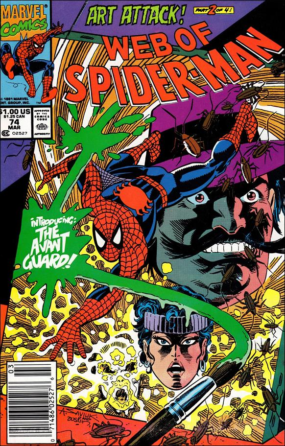 Web of Spider-Man (1985) 74-A by Marvel