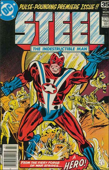 Steel, the Indestructible Man 1-A by DC