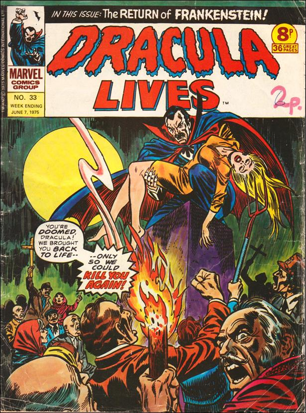 Dracula Lives (UK) 33-A by Marvel UK