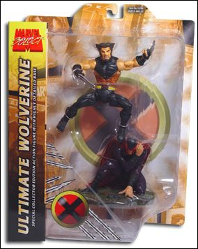 Marvel Select Ultimate Wolverine w/ Injured Magneto Base by Diamond Select