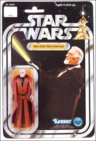 "Star Wars 3 3/4"" Basic Action Figures (Vintage) Ben (Obi-Wan) Kenobi (SW 20/21 Back White Hair) by Kenner"