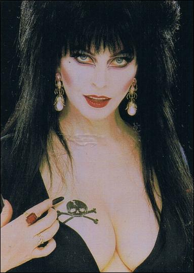 Elvira, Mistress of Omnichrome (Base Set) 7-A by Comic Images