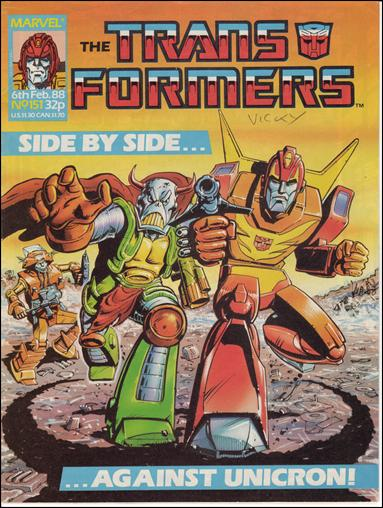 Transformers (UK) 151-A by Marvel UK