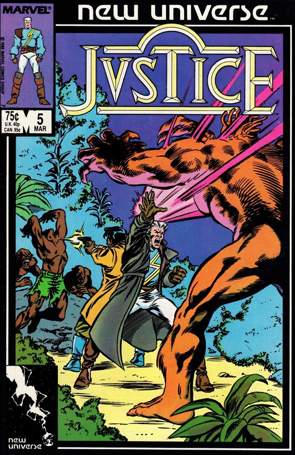 Justice (1986) 5-A by Marvel