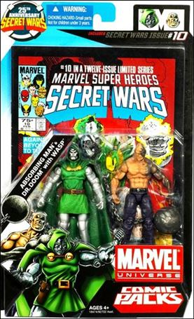 Marvel Universe: Secret Wars (Comic-Packs) Absorbing Man and Doctor Doom with Wasp