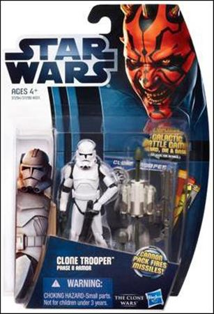 "Star Wars: The Clone Wars Collection 3 3/4"" Figures (2012) Clone Trooper Phase II Armor"