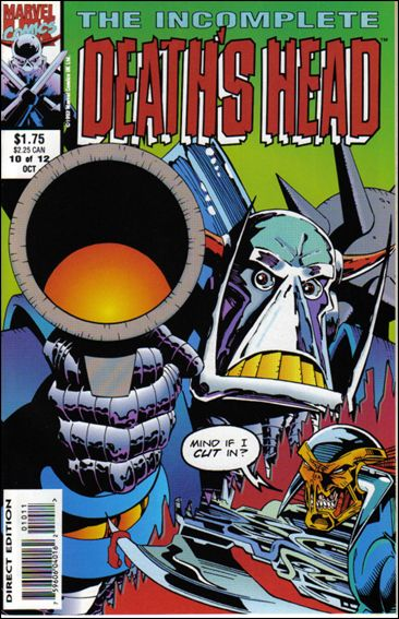 Incomplete Death's Head (UK) 10-A by Marvel UK