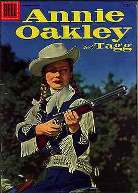 Annie Oakley and Tagg (1955) 6-A by Dell