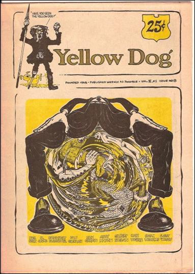 Yellow Dog 8-A by Print Mint