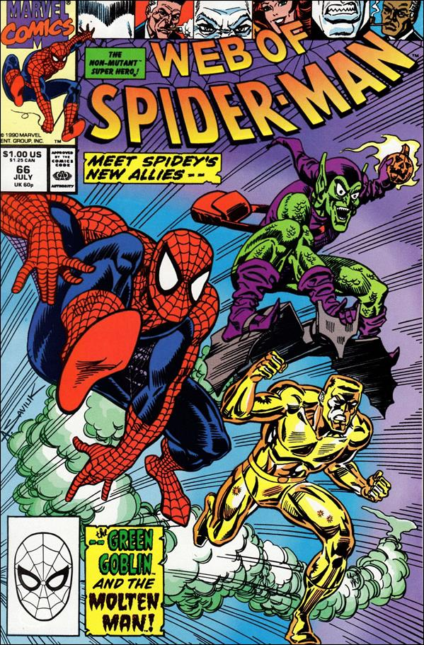 Web of Spider-Man (1985) 66-A by Marvel