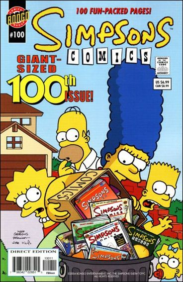 Simpsons Comics 100-A by Bongo
