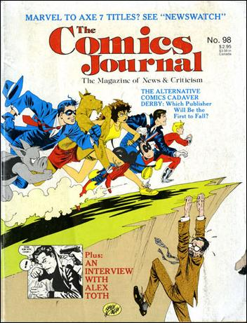 Comics Journal 98-A by Fantagraphics