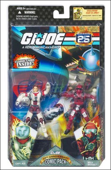 G.I. Joe 25th Anniversary Comic Packs Captain Ace and Wild Weasel  by Hasbro
