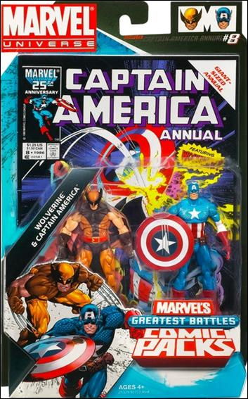 Marvel Universe: Marvel's Greatest Battles (Comic-Packs) Wolverine and Captain America by Hasbro