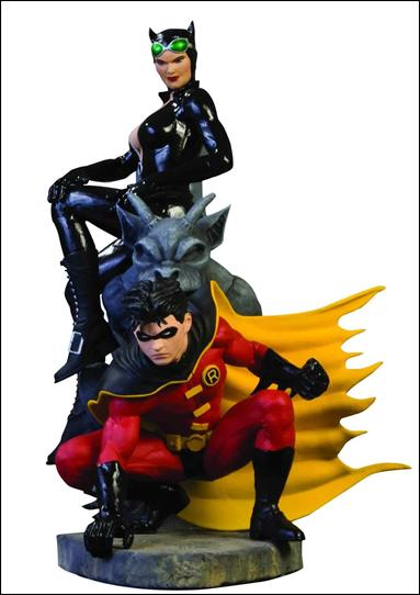 Batman Family Multi-Part Statue Robin and Catwoman by DC Direct