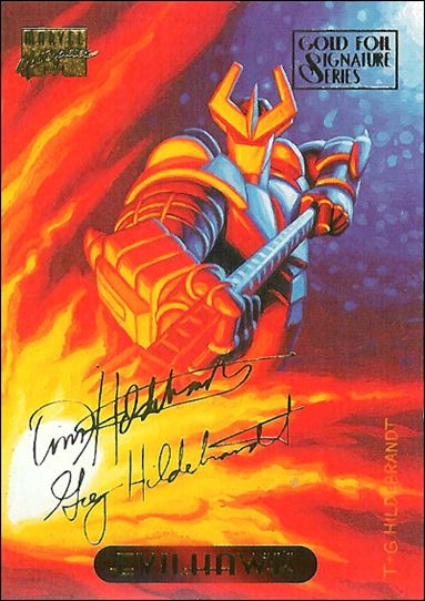 1994 Marvel Masterpieces (Gold-Foil Signature Parallel Base Set) 35-A by Fleer