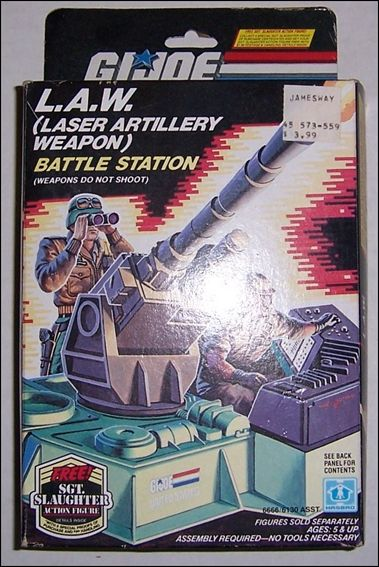 "G.I. Joe: A Real American Hero 3 3/4"" Basic Vehicles and Playsets L.A.W. (Laser Artillery Weapon) by Hasbro"