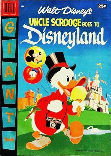 Uncle Scrooge Goes to Disneyland 1-A by Dell