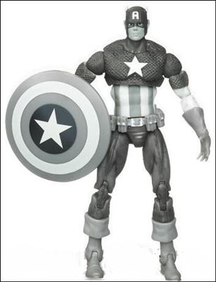 Marvel Universe (Series 1) Black and White Captain America - Loose