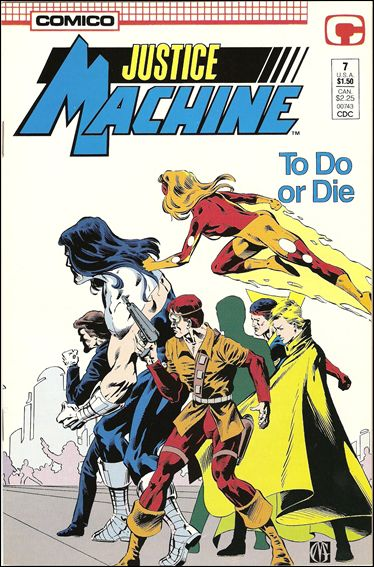 Justice Machine (1987) 7-A by Comico